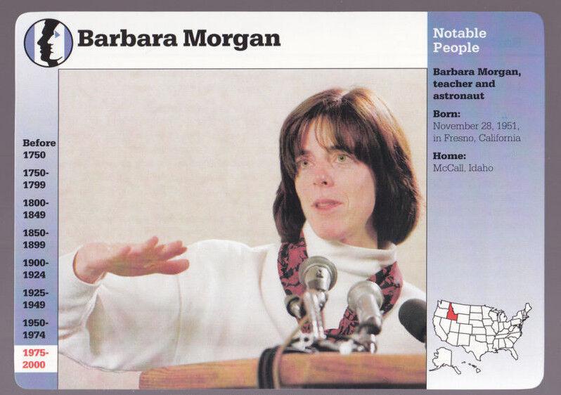 BARBARA MORGAN Astronaut GROLIER STORY OF AMERICA PHOTO CARD
