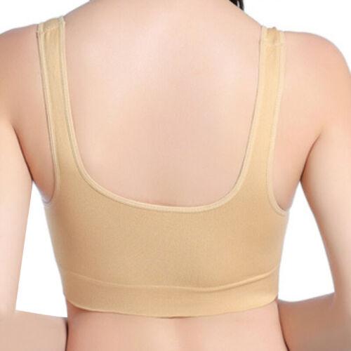 Women Seamless Underwear Stretch Non-Wired Sports Bras Yoga Fitness Gym Vest UK
