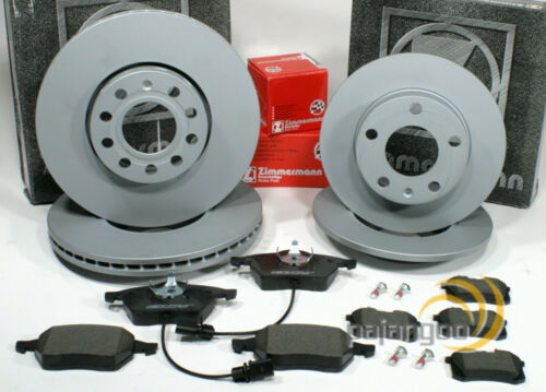 Audi TT Zimmermann Bremsscheiben Bremsbeläge Bremsen für vorne und hinten 8N