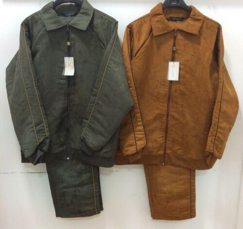Men/'s Fashion Bagazio Suede Feel Track Set Jogging Suit with Jacket /& Pants New