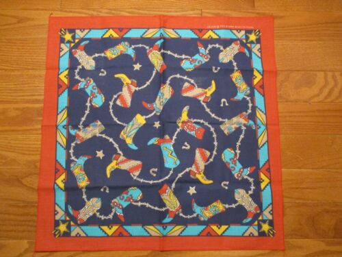 "Vintage 21.5"" Wamcraft Bandana USA Cotton Blend Co"