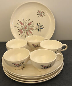 Stetson Celestial Hand Painted China 1958 10 Piece Set Vintage