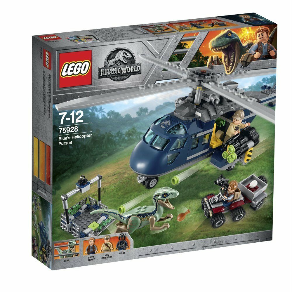 Lego 75928 Jurassic World Blau'S Helicopter Pursuit Building Set