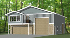 40x48 Apartment with 2-Car 1-RV Garage - PDF FloorPlan - 1,350 sqft - Model 1E