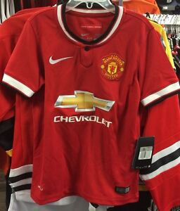 Manchester-United-Soccer-Jersey-Short-Sleeves-English-League-Small-Boys-Youth
