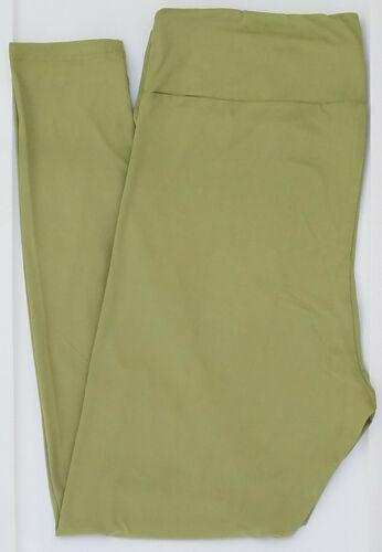 OS LuLaRoe One Size Leggings Solid Light Olive Green NWT 57