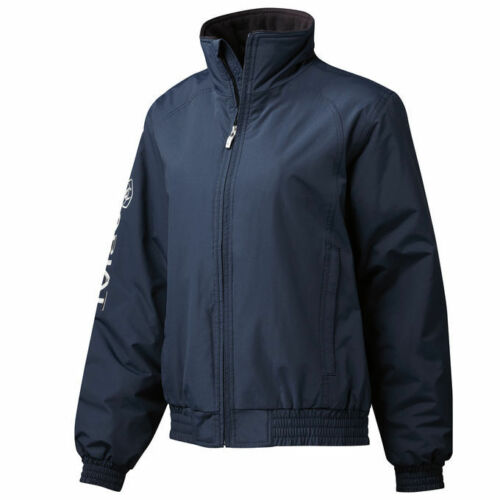FREE QUICK DELIVERY Ariat Womens Waterproof Stable Jacket Black /& Navy