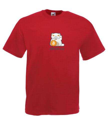 Bitcoin Cryptocurrency Inspiré du style graphique de haute qualité Full Colour T-Shirt