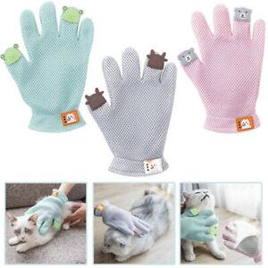Dog-Cat-Grooming-Glove-Double-Side-Pet-Hair-Remover-Mitten-Bath-Massage-Brush-OK