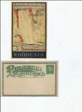 Victoria Falls Rhodesia postcard