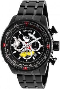 Invicta-26743-Disney-Limited-Edition-Men-039-s-48mm-Black-Steel-Chronograph-Watch
