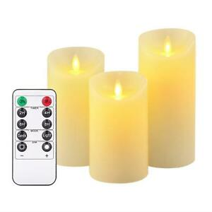 Image Is Loading Luminara Flickering Led Candles Flameless Christmas Real Wax