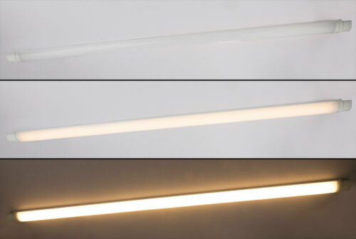 LED Arbeits Unterbau Leuchte weiß opal satiniert Feucht Nass Raum Decken Lampe