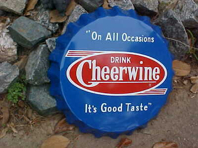 "Cheerwine Soda Bottle cap sign 19/"" cherry"