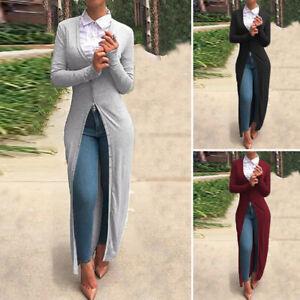 zanzea women casual plus size cardigan long maxi dress top
