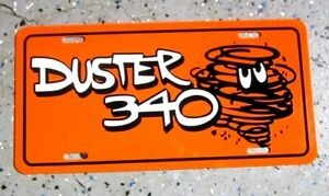 Black ROAD RUNNER license plate car tag 1968 1969 1970 1971 1972 1973 Plymouth