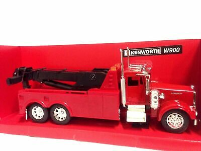 """Kenworth W900 Wrecker  11/"""" Tow Truck 1:32 Diecast Collectible New Ray Toys Red"""