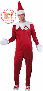 The Elf on the Shelf Adult Mens Costume NEW Christmas