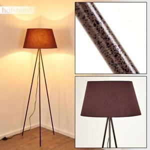 Détails sur Lampadaire Retro Éclairage de salon Lampe de lecture Lampe sur  pied Métal/Tissu