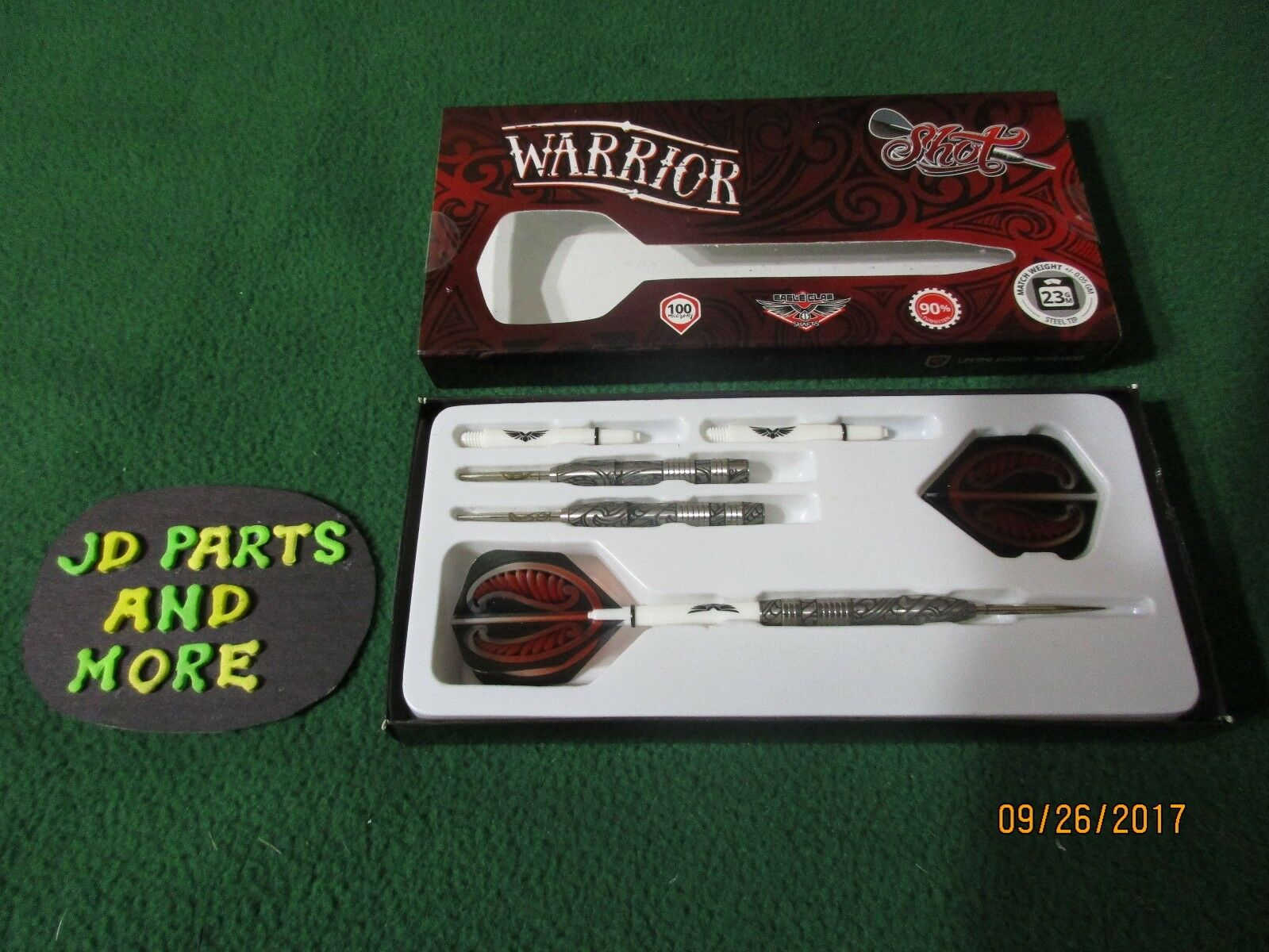 3 NEW SHOT CLAW WARRIOR 23GM FRONT WEIGHTED,STEEL TIP,EAGLE CLAW SHOT SHAFT DARTS WST-123 c10d08