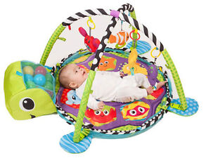 Turtle Baby Gym 3 In 1 Activity Play Floor Mat Ball Pit