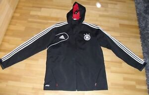 Details zu ADIDAS DFB Travel Jacke Reisejacke Deutschland Fußballjacke m.Kapuze schwarz G.L
