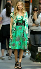 Size 6 Betsey Johnson Modcloth Green Floral Dress Carrie Bradshaw