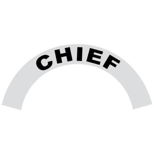 Chief Black Helmet Crescent Reflective Decal Sticker