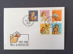 SWITZERLAND-FDC-24-11-1988-HELVETIA-Pro-Juventute-1912-1987-Christmas-Mother