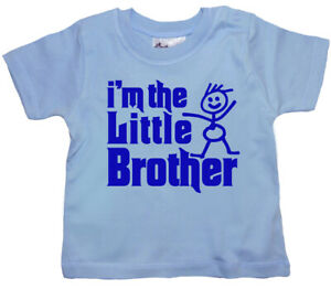 """SALE ITEM Light Blue T-Shirt 3/4 yrs """"I'm the little Brother"""" End of Line item."""