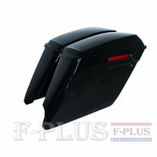"""93-13 Harley 4.5"""" vivid black Extended Stretched Saddlebags One touch open latch"""