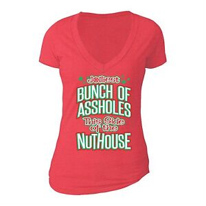 image is loading womens jolliest bunch of nuthouse vacation ugly christmas
