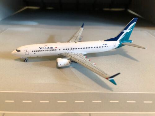 JC Wings JC4026 Silk Air Boeing B737 MAX-8 9V-MBA 1:400