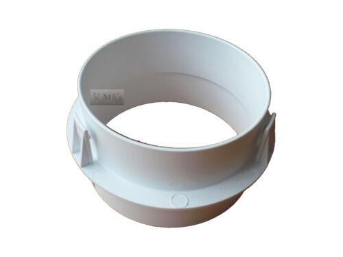 Schlauchadapter für Schlauch Abluftschlauch 100 mm Durchmesser Miele Trockner
