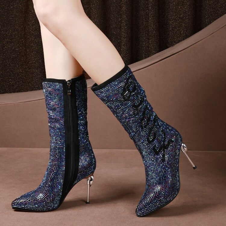 New New New Women's Pointy Toe Stilettos High Heels Ankle Boots Winter shoes Size 7357f5