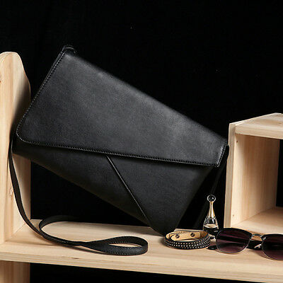 Women Leather Envelope Shoulder Bags Crossbody Messenger Bags Clutch Bag Purses
