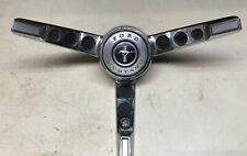 Ford Mustang Steering Wheel Center Cap Horn Ring Button Trim 65 66 Oem Vintage