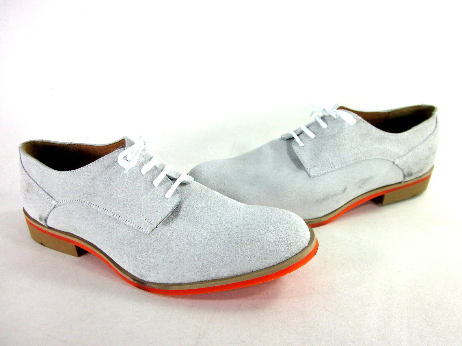 059bd65eba5a JD FISK MEN S CALLUM OXFORD WHITE ORANGE LEATHER IMPORTED US US US SIZE 12  MEDIUM