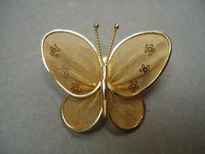 Vintage Pin Design Butterfly Jewelry Vintage Gold Tone Metal Butterfly brooch Vintage Jewelry Vintage Brooch