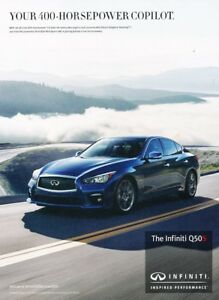 Image Is Loading 2016 Infiniti Q50 Red Sport 400 Original Adver