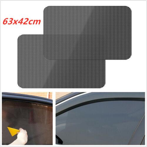 Car Sun Shade Stickers PVC Auto Window Windshield Sun Block Vehicle 2x 63*42CM