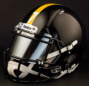 f949fa4a823 Image is loading CUSTOM-PITTSBURGH-STEELERS-Full-Size-NFL-Riddell-SPEED-