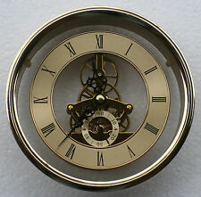 Skeleton Clock 149mm diameter quartz insertion, brass finish.