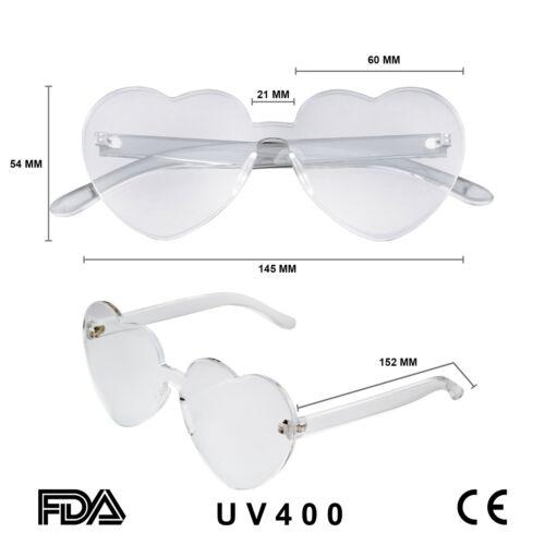 Heart Shape Heart Sunglasses Retro Vintage Boho Translucent Sunglasses Shades