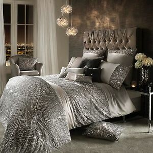 Details About Kylie Minogue Bedding Esta Silver Grey Duvet Cover Curtains Cushion Or Throw