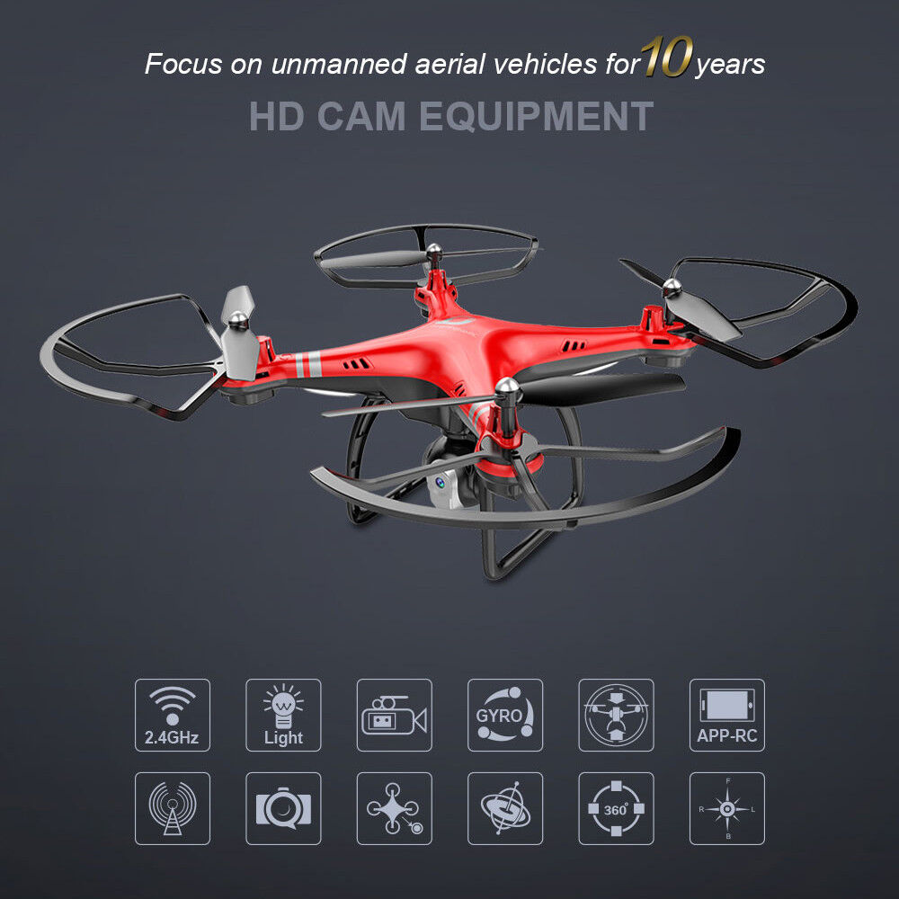 X8 18Mins 4CH  6Axis RC FPV Drone Altitude Hold Wifi HD teletelecamera Quadcopter APP LED  all'ingrosso a buon mercato