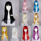 60cm Halloween Straight Party Wig Ladies Anime Cosplay Hair Fancy Dress Wigs