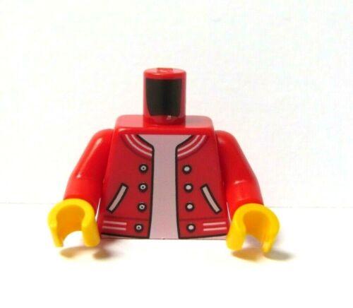 LEGO 1 Corps Torse pour figurine figure Rouge Baseball Veste T Shirt