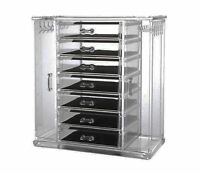 Large Acrylic Clear Cosmetic Make Up Organiser Display Jewelry Drawer Box Case