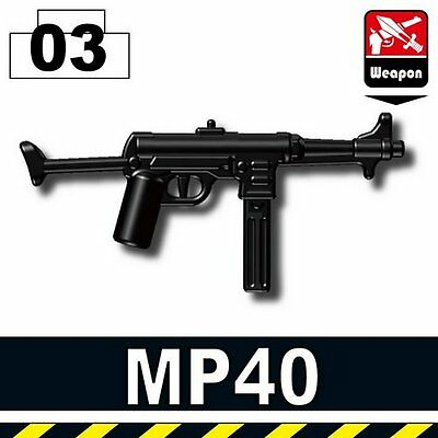 Field Gear Compatible With Brick Mini-Figures German WW2 MP40 W248